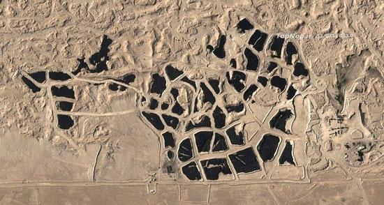 انباشت بیش از حد لاستیک مستعمل در اطراف شهر های کویت