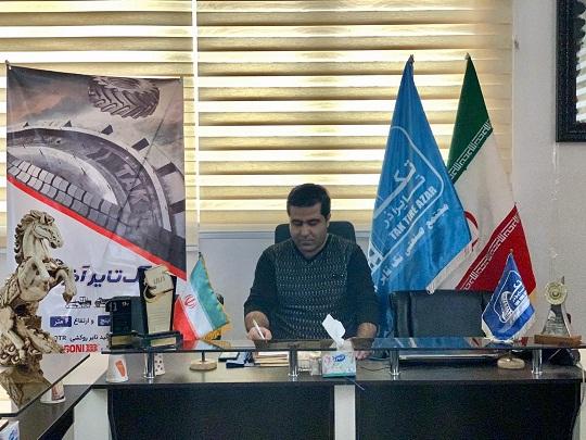 آقای حسن نژاد رئیس واحد بازرگانی شرکت تک تایر آذر