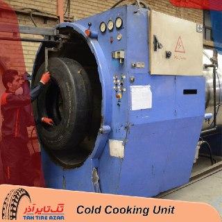 مرحله پخت سرد از مراحل تولید لاستیک روکش سرد